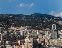 Monaco Downtown. The skyline and harbor of downtown Monaco Royalty Free Stock Photo