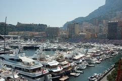 Monaco durante o Prix grande 2009 fotografia de stock