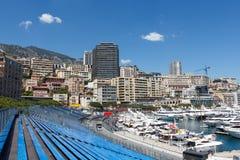 Monaco. Empty tribunes before the Monaco GP Royalty Free Stock Image