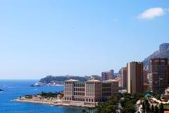 Monaco en Middellandse Zee Royalty-vrije Stock Foto