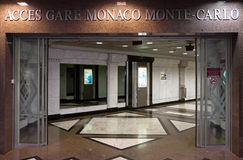 Monaco - Entrance to the tunnel Stock Images