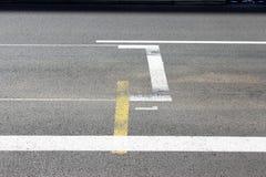 Monaco F1 grand prixstart och mållinje Royaltyfria Bilder