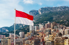 Monaco flag Royalty Free Stock Image