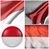 Monaco flag composition Royalty Free Stock Image