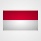 Monaco flag on a gray background. Vector illustration Royalty Free Stock Images