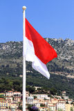 Monaco flag at Monaco Stock Image
