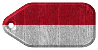 Monaco flag Royalty Free Stock Photo