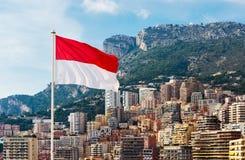 Monaco flagga Royaltyfri Bild