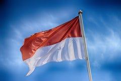 Monaco flagga Royaltyfria Bilder