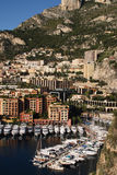 Monaco Fontvieille. Principality of Monaco Port of Fontvieille viewed from Palace walls Stock Photos