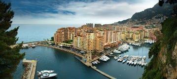 Monaco - Fontvieille hamn Royaltyfri Fotografi