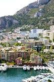 Monaco - Fontvieille harbour Stock Images