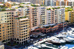 Monaco - Fontvieille harbour Stock Photos