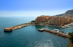 Monaco - Fontvieille harbour Royalty Free Stock Image