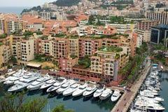 Monaco - Fontvieille harbour Stock Photo