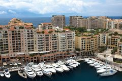 MONACO,  Fontvieille, new district of Monaco. Stock Images