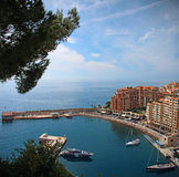 Monaco. Fontvieille. Fontvieille - town and district of the Principality of Monaco, located in the south-west of the country Royalty Free Stock Photography
