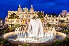 Monaco. Fountain at square in Monaco Royalty Free Stock Photos