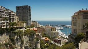 MONACO, FRANKREICH - 17. Juni 2016 Skyline von Monaco stock video