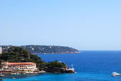 Monaco, Frankrijk en Italië - mediterrane kust Stock Afbeelding
