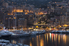 Monaco - French Riviera. The Port of Monaco in the Principality of Monaco, a sovereign city state, located on the French Riviera Royalty Free Stock Image
