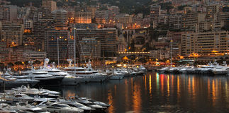 Monaco - French Riviera. The Principality of Monaco, a sovereign city state, located on the French Riviera. It has an area of 1.98 km2 (0.76 sq mi), and a Royalty Free Stock Photos
