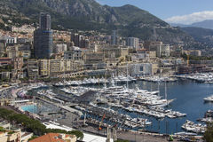 Monaco - French Riviera. The Principality of Monaco, a sovereign city state, located on the French Riviera. It has an area of 1.98 km2 (0.76 sq mi), and a Stock Photography