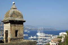 Monaco (french riviera). View of monaco (principaut� de monaca,mont� carlo Royalty Free Stock Images
