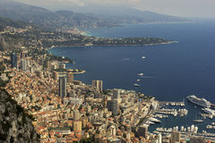 Monaco on French Riviera on a sunny day Royalty Free Stock Photo