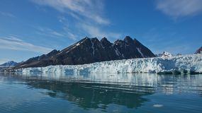 Monaco Glacier in Spitsbergen, Svalbard Royalty Free Stock Photography