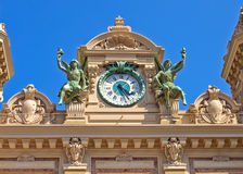 Monaco Grand Casino Clock Royalty Free Stock Photography