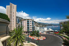 Monaco Grand Prix circuit Royalty Free Stock Photography