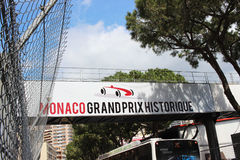 Monaco Grand Prix Historique Signboard Royalty Free Stock Photography