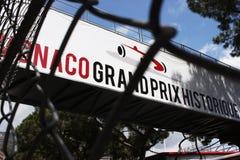 Monaco Grand Prix Historique Signboard Stock Image