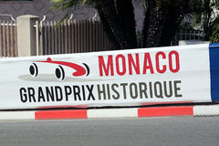 Monaco Grand Prix Historique Signboard Stock Images