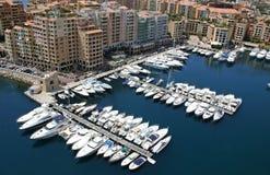 Monaco hamn Arkivfoto
