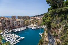 Monaco. Hamn av Fontvieille Royaltyfria Foton
