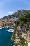 Monaco. Hamn av Fontvieille Arkivfoton