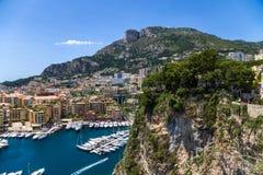 Monaco. Hamn av Fontvieille Royaltyfri Fotografi