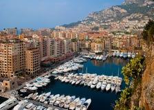 Monaco hamn eller marina Arkivbild