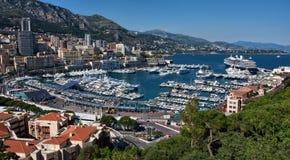 Monaco Harbor. Aerial view of Monaco harbor Royalty Free Stock Photo