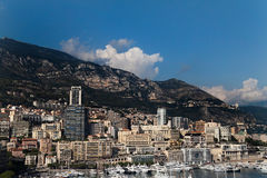 Monaco Harbor. The skyline and harbor of downtown Monaco Royalty Free Stock Images