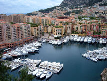 Monaco harbor. Harbor of monaco in france. Cote d azur Stock Photos