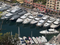 MONACO Harbor. Building and yachts from Monaco harbor Stock Images