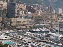 MONACO Harbor. Building and yachts from Monaco harbor Royalty Free Stock Image