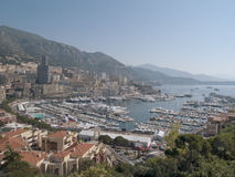 MONACO Harbor. Building and yachts from Monaco harbor Royalty Free Stock Photography