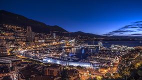Monaco harbor. Early morning on the harbor of Monaco Royalty Free Stock Photos
