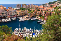 Monaco harbor, French Riviera Royalty Free Stock Photo