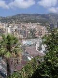 Monaco harbor front. The promanade, pool and road of Monaco stock photos
