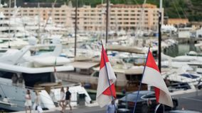 Monaco harbor with moored private yachts, luxury recreation on expensive vessels. Stock photo royalty free stock image